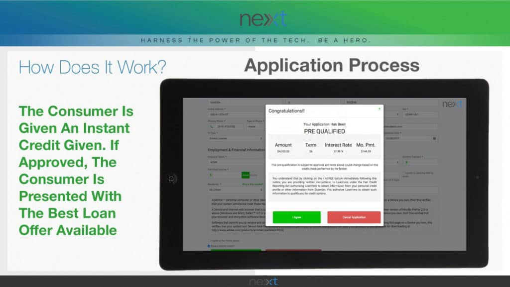 Next-Financing Application Process